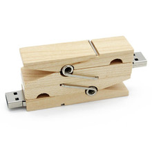 Wooden clip usb flash drive lovely clothespin pen drive memory stick 8gb 32gb 16gb USB 2.0 creativo gift