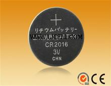 3v lithium LiMnO2 button coin cell battery CR2016 for watch battery