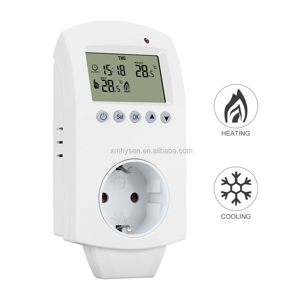 HY02TP Hot selling plug in thermostat socket to save electricity bills