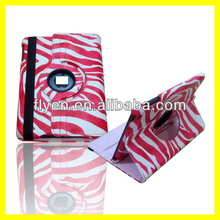 360 Degrees Model for iPad Mini zebra pattern leather Case Automatically Wakes and Puts to Sleep from iphonecase