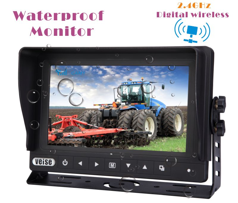 "7"" Wireless Waterproof Rearview Camera Systems for FREIGHTLINER, Trucks, Reach Trunks"