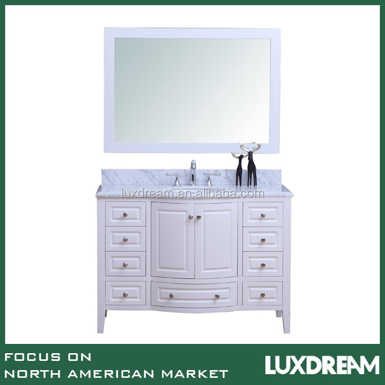 High end white furniture used bathroom vanity cabinet