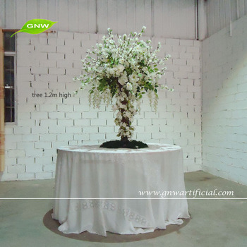 GNW CTR1503-4 Artificial White Blossom Tree for wedding table centerpiece decoration