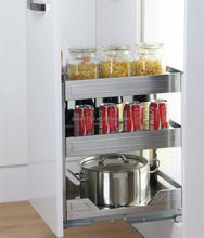 Kitchen Cabinet Stainless Steel Pull Out Drawer Wire Basket Product/ Stainless Steel Storage Furniture(201.800.350)