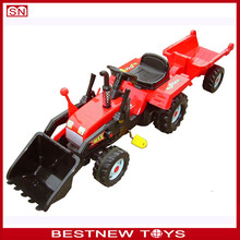 Kids tricycle with trailer pedal toy tractor for children