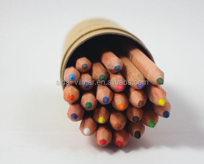 Colorful Printing HB Wood Pencil natural wood colored pencils