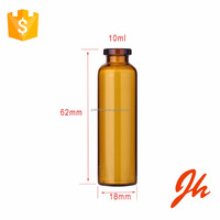 Hot sale 10ml glass ampoule/empty syrup glass bottle with flip off cap