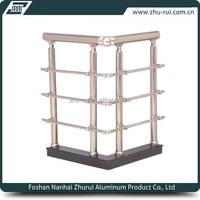Anodizing Aluminum Handrail/railing For Internal Staircase/aluminum staircase