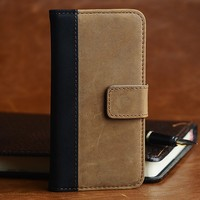 Brown Crazy Horse Genuine Leather Case For iPhone 6