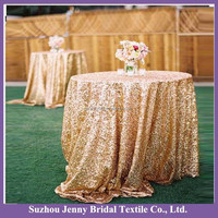 SQN82 gold glitter sequin table cloth for weddings