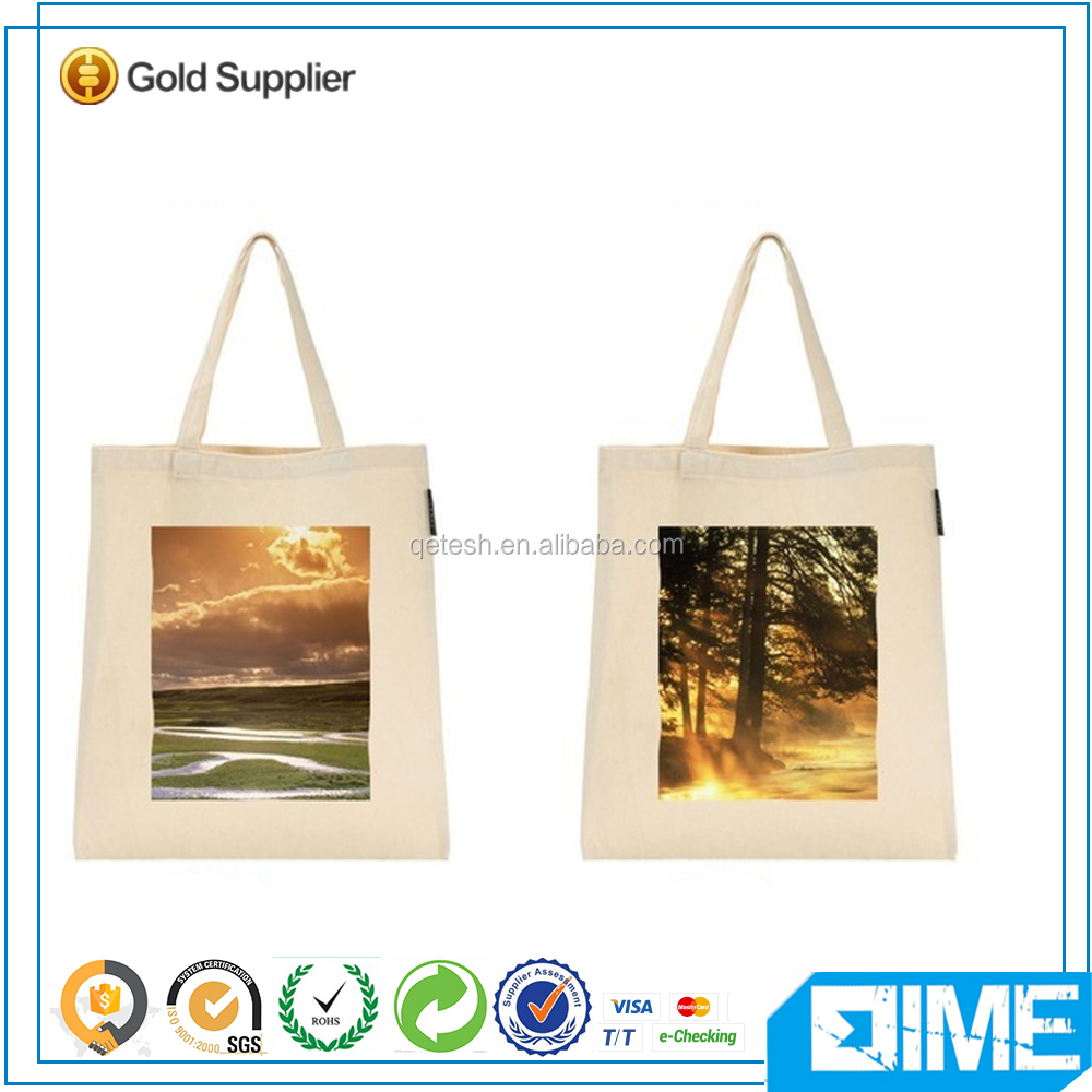 Beautiful Sunset Plain Canvas Folding Zipper Shopping Tote Bag