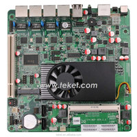 Intel MINI-ITX Mothboard for 4 LAN D2550MF 12VDC IN,PCIE,PCI,VGA.For Networking/Storage/Mail Server.Soft Route Motherboard