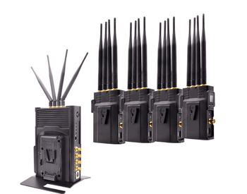 500Meter 4TX+1RX HD 1080p Video/Audio Wireless Transmission System with Tally, 5GHz Frequency