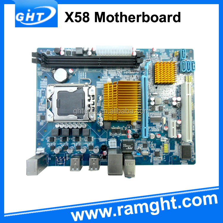 Integrated dual channel 1066 1333 1600 x58 1366 motherboard