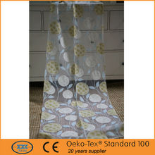 Charming burnout curtain office window roman curtain