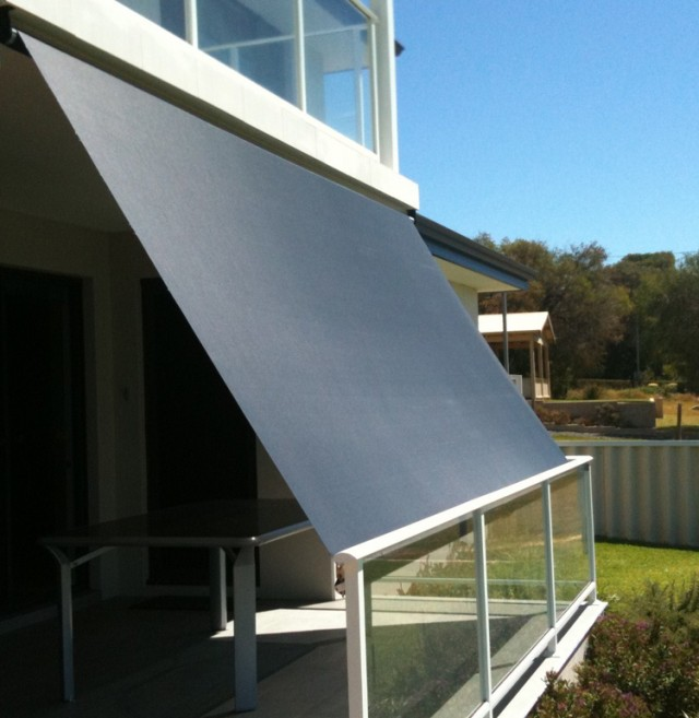 Outdoor Blinds with Motorized/Manual Roller System