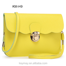 China fashion design best quality PU satchel lady cross body bag