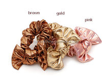 Luxe Guiltter Sequin Fabric Bow Elastic Hair Band,Handmade Bow Hair Scrunchy For Girls