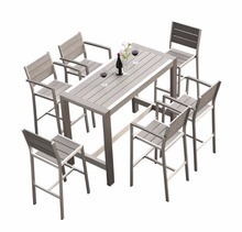Most popular products Garden outdoor patio polywood bar stools bar chairs and table set used bar furniture