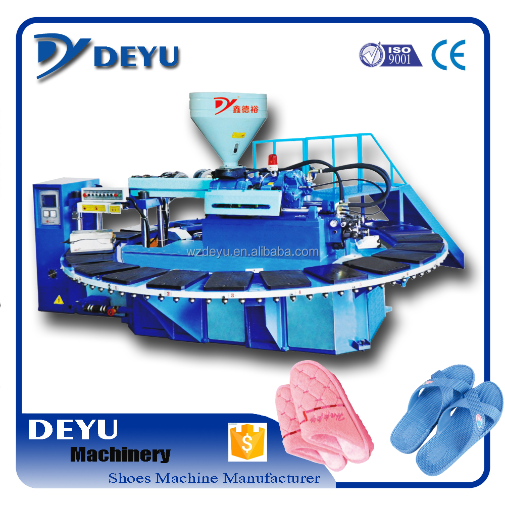 Full automatic pvc air blowing slipper molding machine