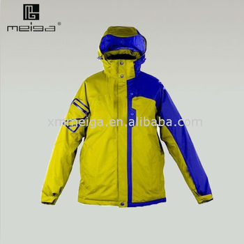 2013 OEM tall men's waterproof outer skiing jacket