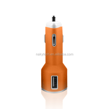 Retail mini 2-Port Bullet Dual USB Car Charger Adaptor for ipad iphone 5s s4