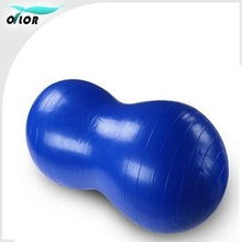 Peanut shape anti-burst pvc yoga ball for fitness