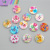 Wholesales colourful floral printed 2 holes 4 holes wooden buttons for DIY clothing accessories