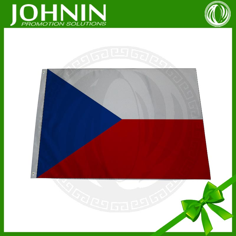 Short <strong>Delivery</strong> 100% Polyester Silk Screen Printing Czech Republic Flag