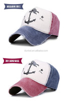 wholesale 2015 new fashionable ship anchor pure cotton worn-out baseball hats