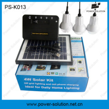Fiber optic solar light system with USB mobile phone charger