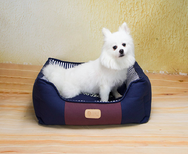 low MOQ cute new design luxury pet bed acrylic pink color pet bed for dogs