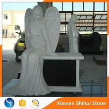 Custom Designed Granite Angel Cemetery Monuments