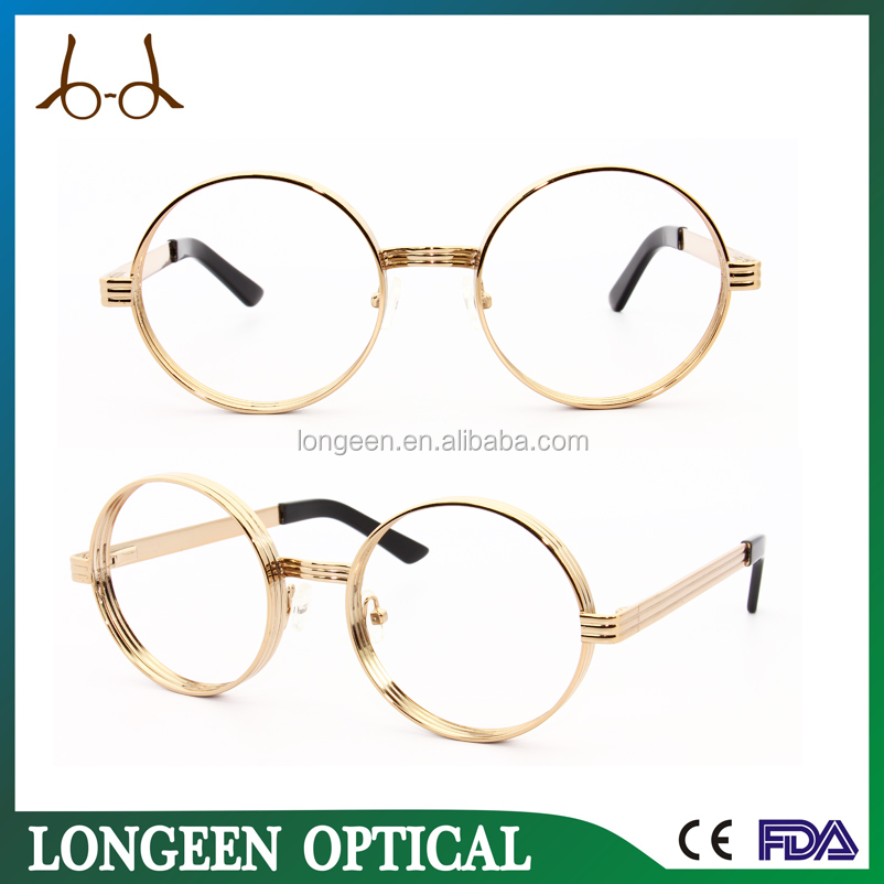 latest round gold reading glasses/Retro optical frame