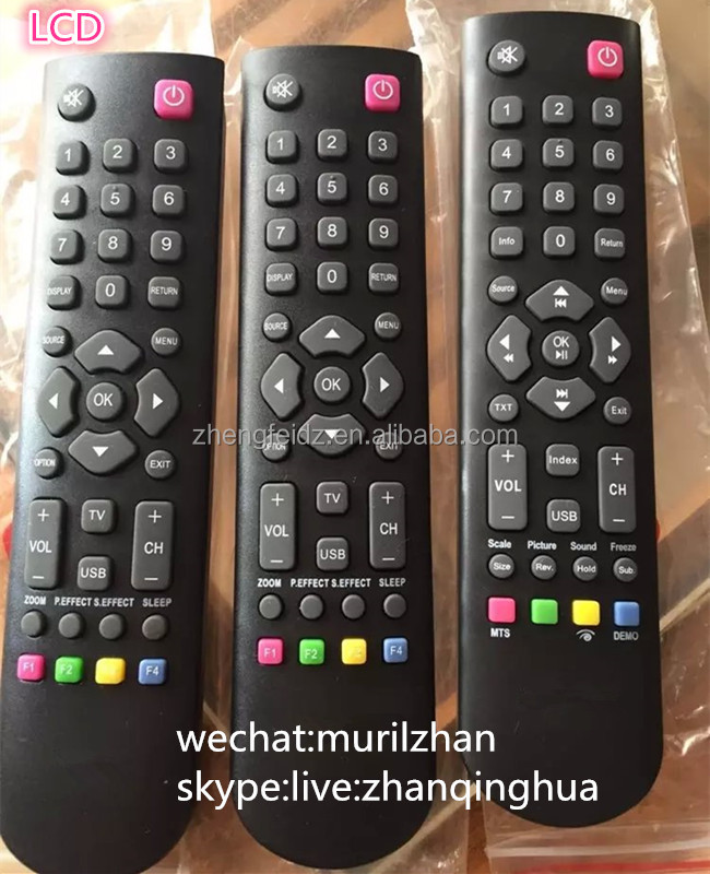 High Quality Black 37 Keys LCD Remote Control for TCL HYUNDAI ZF Universal tv remote controller