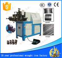 handrail pipe cold rolling ferforje wrought iron embossing machine