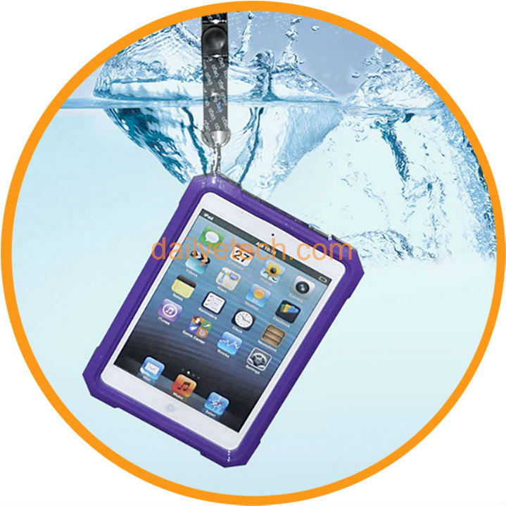 for iPad Mini Ultra-thin Waterproof Plastic Hard Case Cover Dark Blue from Dailyetech