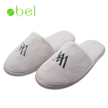 Five star indoor guest room luxury soft eva disposable wholesale cotton hotel slippers for man in winter