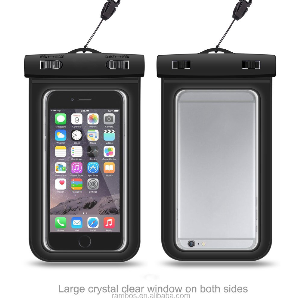 Phone Watch Keys MP3 Player Cash Waterproof Bag Dirt Waterproof Case for Swimming for iPhone