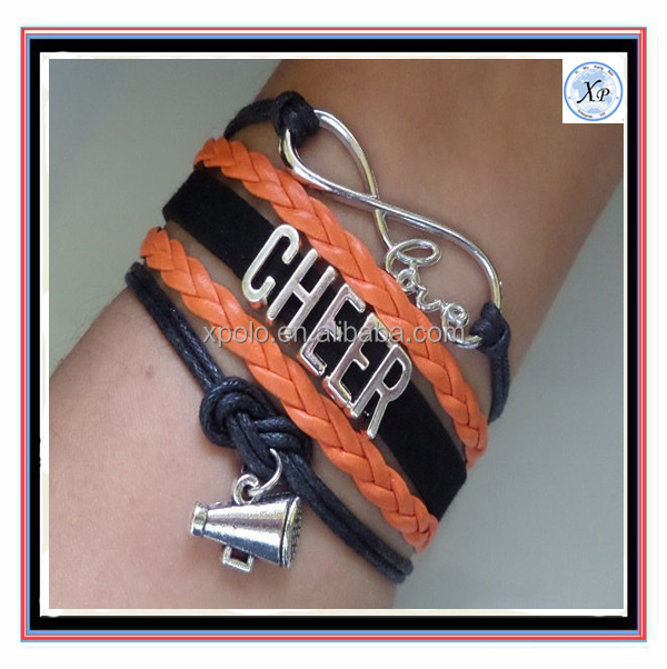 Fashion FOOTBALL Bracelet, Football jewelry, Cheerleader Bracelet,