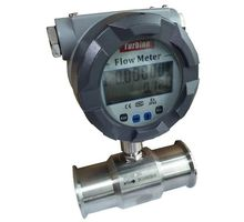 digital liquid stainless steel turbine sanitary water flow meter With 4~20mA with low cost