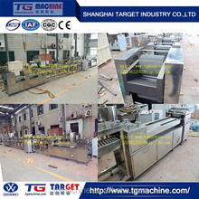 Nougat candy sheeting and cutting forming candy machine
