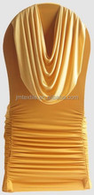 New Design Ruched Pleat Ruffle Spandex Lycra Elastic Chair Cover with Swag at Back