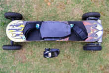 2015 new lithium battery electric mountain board with remote controlling top speed 45km/h