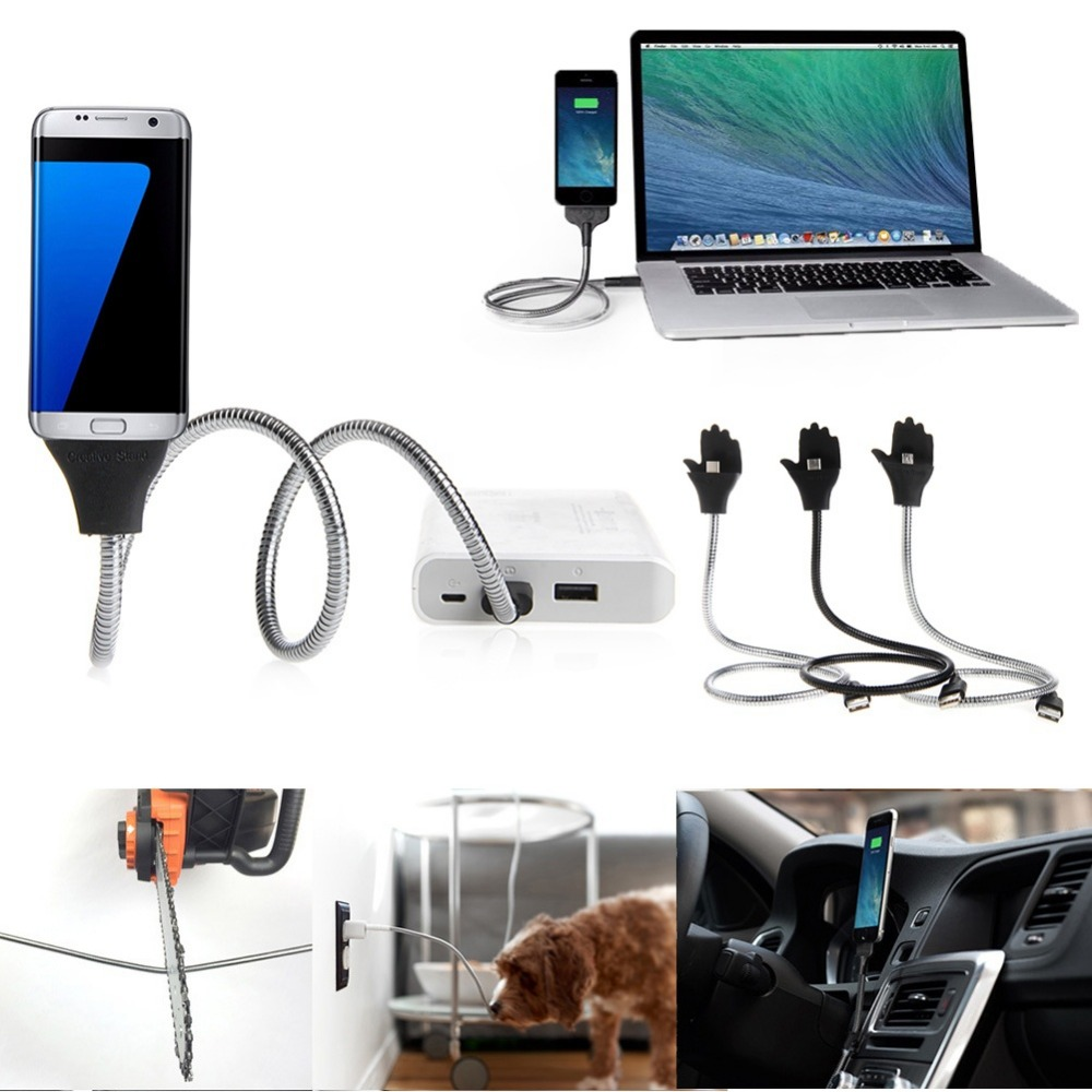 wholesale dealer 2Colors Holder Line Dock Stand-up to USB Charging Cable for iPhone and Samsung