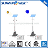 60w white Energy-saving best quality solar street light with pole