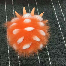 China wholesale rabbit fur with fox fur 13 cm key chains fur pom poms for cell phone hand bag hat