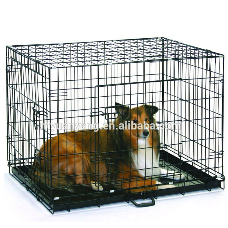hot sale double doors folding dog kennel UK market