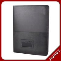 promotion new fashion factory business leather classic padfolio