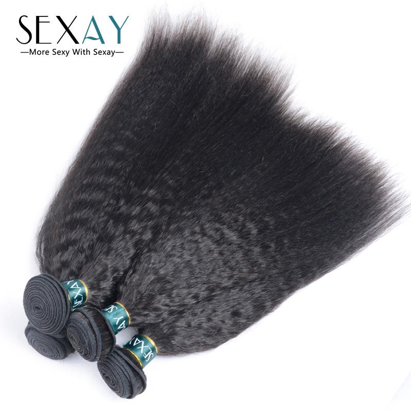 Buy Kinky Straight Yaki Hair Weave Bundles 7a Brazilian Virgin Hair